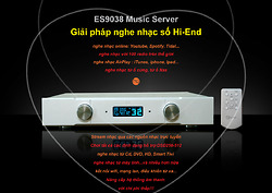 ĐẶT TRƯỚC ĐỂ ĐƯỢC NHẬN KHUYẾN MẠI:  ES9038 Music Server II